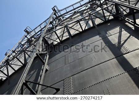 Old gasometre building in former steel mill, Czech Republic - stock photo