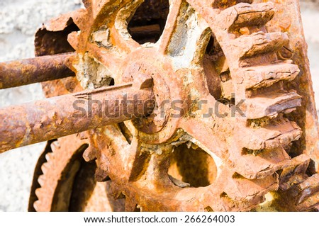 old gear - stock photo