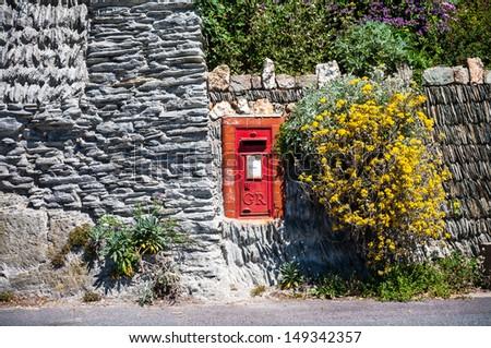 Old Georgian Postbox - stock photo