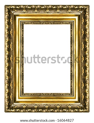 old gilded frame (high res) - stock photo