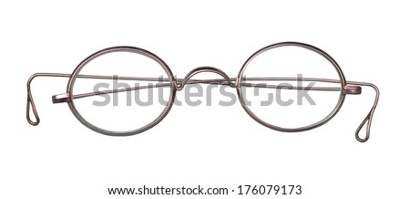 Old glasses on white   - stock photo