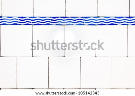 Old glazed tiles - stock photo
