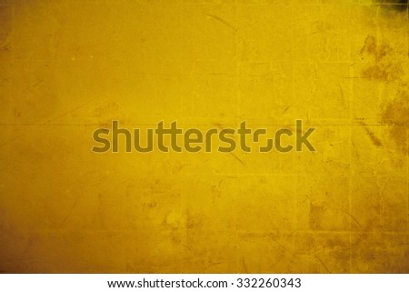 Old gold folding screen paper - stock photo