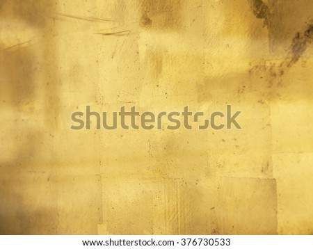 old gold wall texture closeup - stock photo