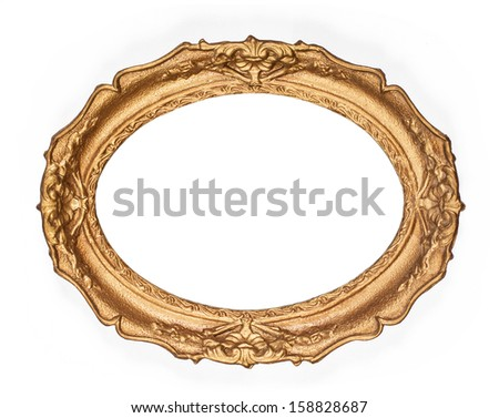 old golden picture frame - stock photo