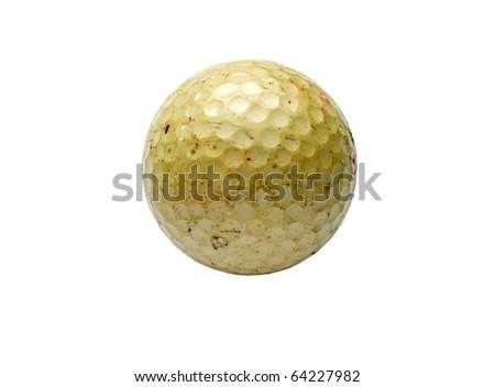 Old golf ball - stock photo