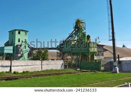 Old grain elevator still in operation - stock photo