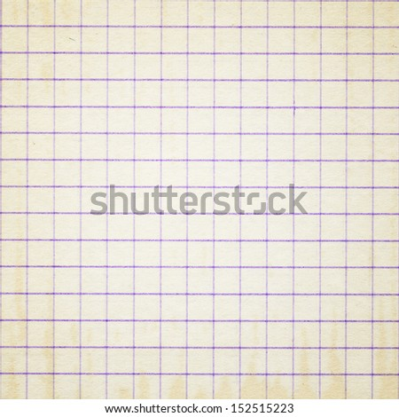 old graph grid paper background - stock photo