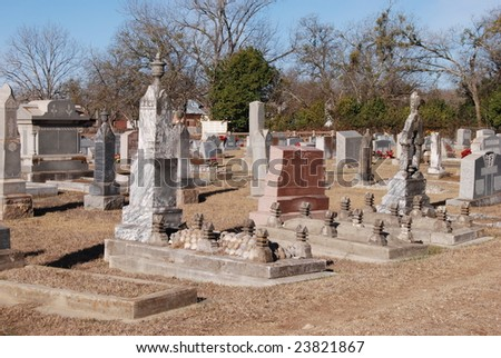 Old graveyard - stock photo
