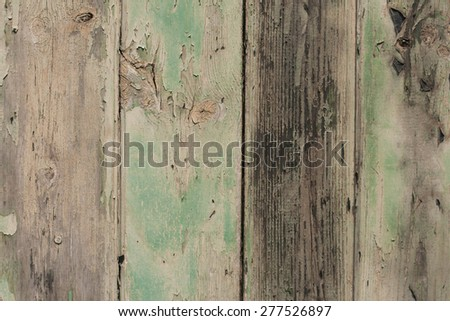 Old greed wood panels, wall background, texture - stock photo