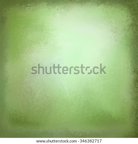 old green paper background with white center and vintage texture - stock photo