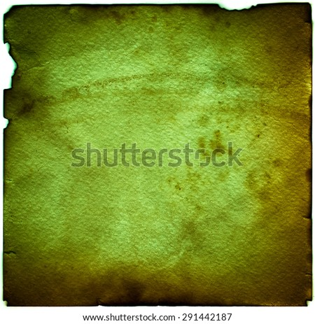 Old grunge antique paper with spots and stains square background - stock photo