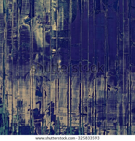 Old grunge antique texture. With different color patterns: blue; gray; cyan - stock photo