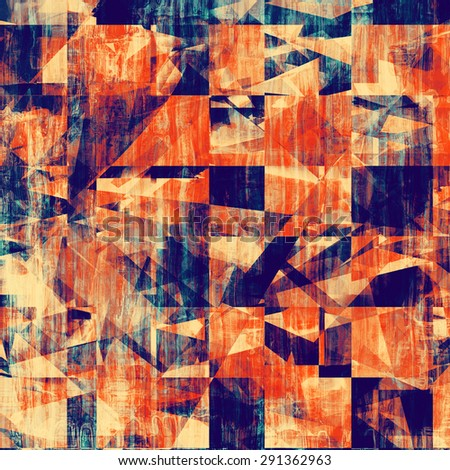 Old grunge antique texture. With different color patterns: yellow (beige); blue; purple (violet); red (orange) - stock photo