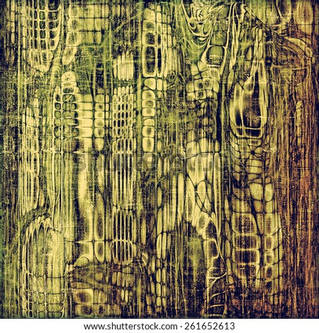Old grunge antique texture. With different color patterns: yellow (beige); brown; gray; green - stock photo
