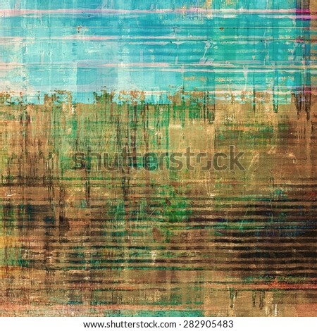 Old grunge antique texture. With different color patterns: yellow (beige); brown; green; blue - stock photo