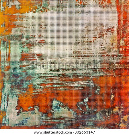 Old grunge antique texture. With different color patterns: yellow (beige); brown; red (orange); blue - stock photo