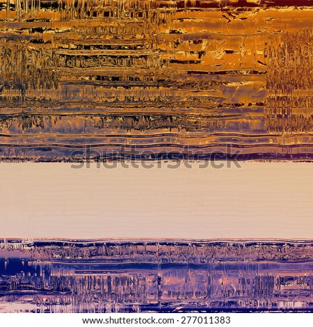 Old, grunge background or ancient texture. With different color patterns: brown; purple (violet); blue; yellow (beige) - stock photo