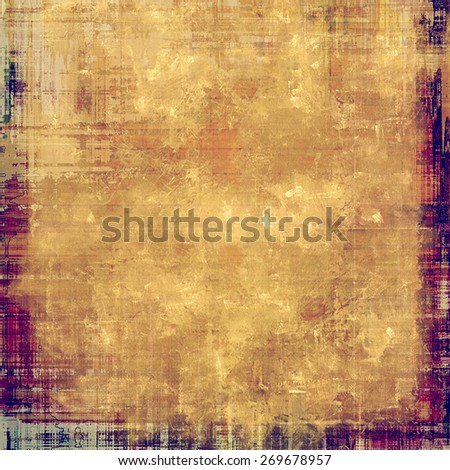 Old, grunge background texture. With different color patterns: purple (violet); yellow (beige); brown - stock photo