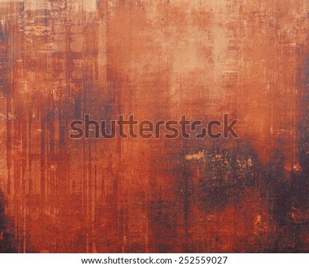 Old, grunge background texture. With different color patterns: yellow (beige); brown; red (orange); black - stock photo