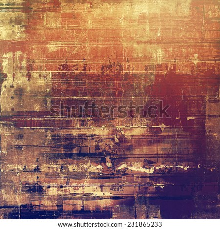 Old, grunge background texture. With different color patterns: yellow (beige); brown; red (orange); purple (violet) - stock photo
