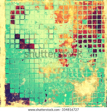Old, grunge background texture. With different color patterns: yellow (beige); red (orange); green; blue - stock photo