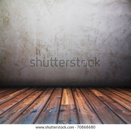 old grunge background, vintage interior - stock photo