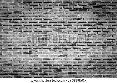 Old grunge brick wall use for vintage background - stock photo