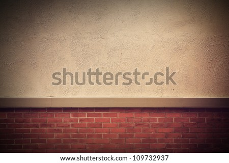 old grunge brick wall with space for text, Vintage style - stock photo