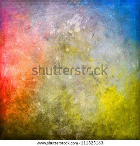 old grunge colored paint background texture - stock photo