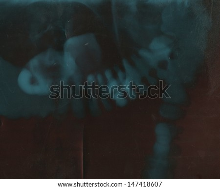 old grunge film background with space for text or image  - stock photo
