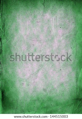 Old grunge green paper background or texture - stock photo