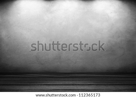 old grunge interior room used as background. - stock photo