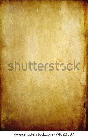 Old grunge paper background with space - stock photo