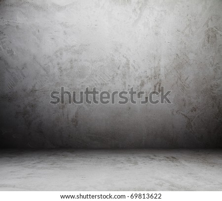 old grunge room - stock photo