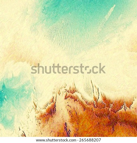 Old grunge template. With different color patterns: yellow (beige); brown; cyan; green - stock photo