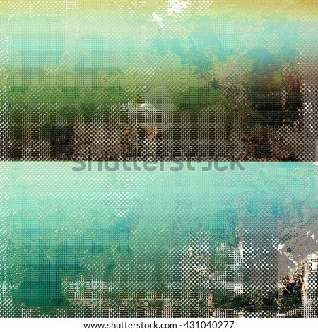 Old grunge vintage background or shabby texture with different color patterns: yellow (beige); brown; green; blue; gray - stock photo