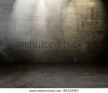 old grungy interior, dirty background - stock photo