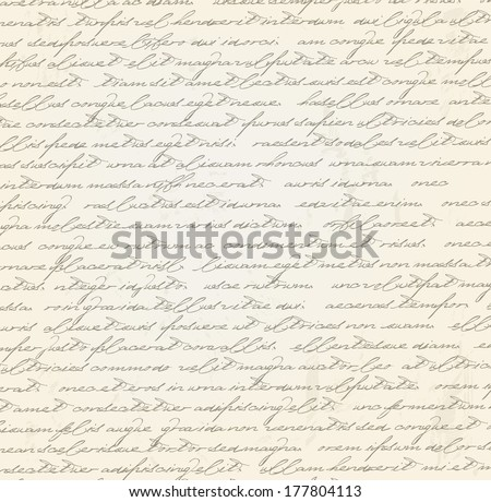 Old grungy letter  - stock photo