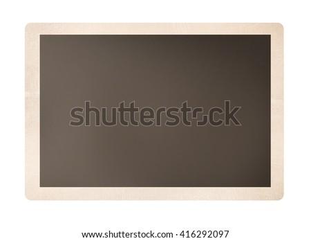 Old grungy photo isolated on white - stock photo