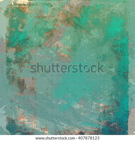 Old grungy stylish composition, vintage texture with different color patterns: brown; gray; green; blue; cyan - stock photo