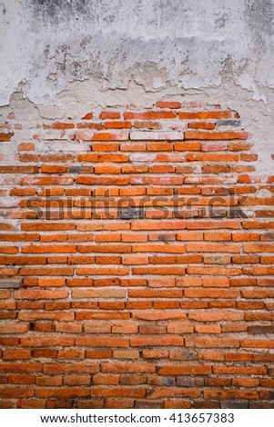 old grungy vintage brick wall texture - stock photo