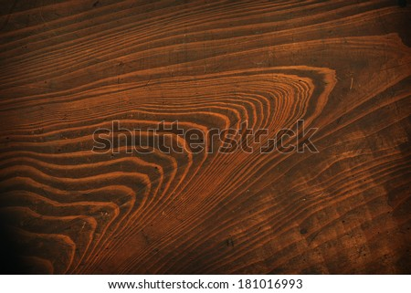Old grungy wooden surface texture with bold grains. - stock photo