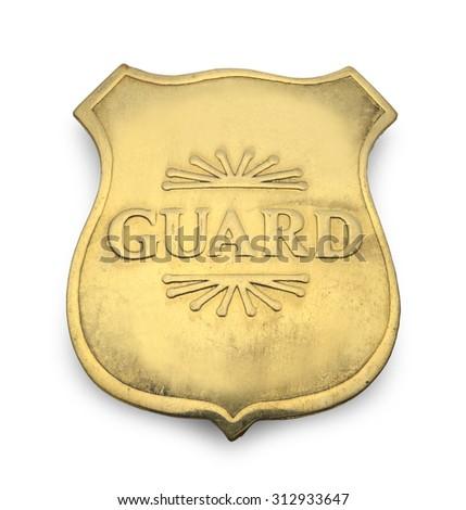 Old Guard Badge Isolated on White Background. - stock photo