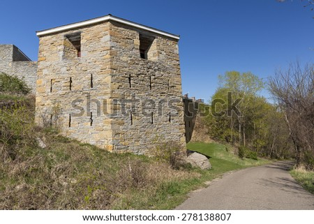 Old Historic Fort - stock photo