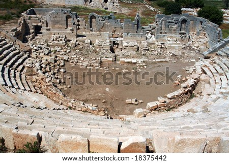 old historical theater - stock photo