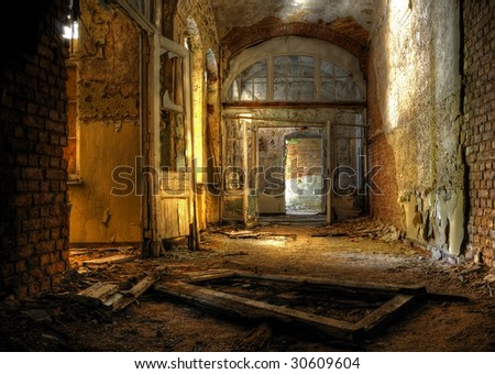 old hospital - stock photo