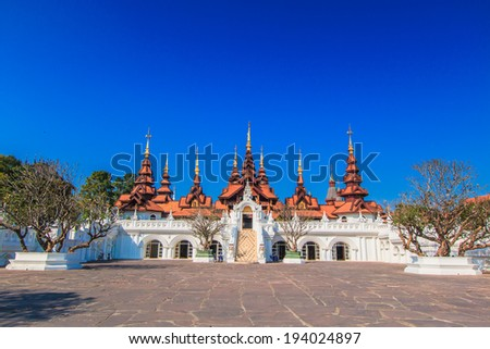 Old Hotel Of Chiang mai Asia Thailand  - stock photo