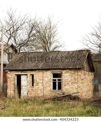 old house, abandoned house - stock photo