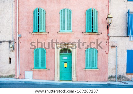Old house facade,  Provence, France - stock photo
